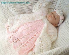 Snowy Rose Baby Crochet Pattern