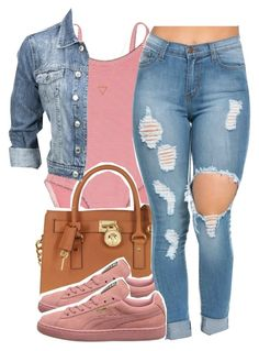 """6/2/16"" by yasnikki ❤ liked on Polyvore featuring Petit Bateau, Michael Kors, Modström and Wanderlust + Co"