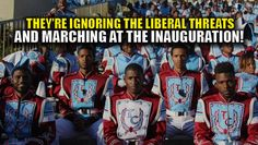 "Despite liberal threats and bullying by the ""loving left"" the black marching band from Talladega College will be attending Trump's inauguration. From Fox News: The marching band of a historically black college in Alabama will perform in President-elect Donald Trump's Jan. 20 inaugural parade despite a barrage of criticism, the school's president announced Thursday. Talladega College President Billy Hawkins confirmed what the Presidential Inaugural Committee had announced Dec. 30. It was the…"