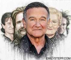 Robin Williams 7/21/1951-8/11/2014 - He was incredibly generous with sharing so much of himself with the world. He inspires me to be that generous in my art. You ARE one of a kind. Where ever you are, they are lucky to have you.