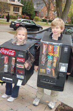 Vending Machine Halloween Costume DYI