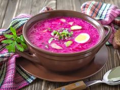 Cold beet soup - a traditional food in Latvia! Taste the summer with this mouthwatering meal in many cafes and restaurants in Riga! New Recipes, Healthy Recipes, Chocolate Babka, Beet Soup, Borscht, Learn To Cook, What To Cook, I Love Food, Main Dishes