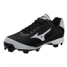 huge discount 45d1a 1840a Mizuno 9 Spike Advanced Blaze Elite 5 Baseball Cleat 320446.9000  Black-White Baseball Shoes,