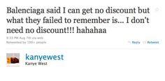 Kayne West Tweets