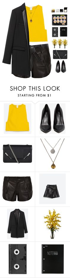 """""""#467"""" by giulls1 ❤ liked on Polyvore featuring Zara, Privileged, Yves Saint Laurent, Lucky Brand, Alice + Olivia, Nearly Natural, Luckies, Korres, yellow and zara"""