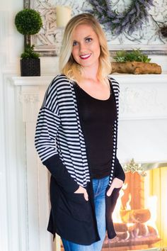 Black & Gray Cardigan