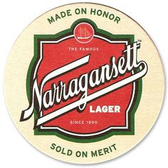 Narragansett Brewing Coaster- Have you solved all of the new 2013 rebus puzzles featured on the coasters?