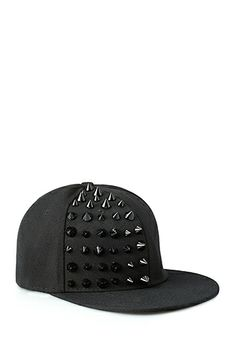 Bold Spiked Snapback Hat | FOREVER 21 - 2000089985