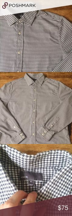 """🎈MOVING SALE🎈Vince•Oxford•Shirt• 🎈MOVING SALE🎈a men's long sleeve button front 100%  cotton oxford shirt. Size tag says XL: see measurements below. EUC•no fraying at cuffs or collar• Chest: 24"""" (armpit-armpit) Length:30"""" Sleeve: 35"""" (from middle of back-shoulder-cuff) Vince Shirts Casual Button Down Shirts"""