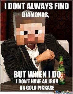 We all have that moment in Minecraft :D #Minecraft #Diamonds #Gaming #Game #Geek