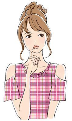 アーツブレインズ メザイク リーフレット イラスト | ミヤモトヨシコのガールズイラスト