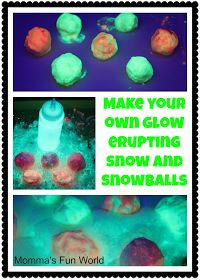Momma's Fun World: Make your own erupting glow snow