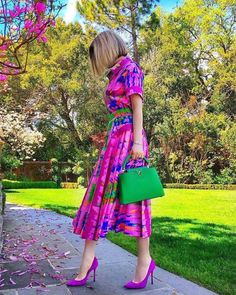 Colourful Outfits, Retro Outfits, Colorful Fashion, Classy Outfits, Cute Outfits, Color Combinations For Clothes, Color Blocking Outfits, Modest Fashion, Fashion Outfits
