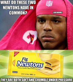 10 Cam Newton Memes For Fans And Non-Fans - Funny Sports - - 10 Hilarious Cam Newton Memes No Matter If You Bleed Panther Blue Or Bronco Orange The post 10 Cam Newton Memes For Fans And Non-Fans appeared first on Gag Dad. Nfl Jokes, Funny Football Memes, Basketball Memes, Funny Sports Memes, Sports Humor, Football Humor, Funny Memes, Sports Basketball, College Basketball