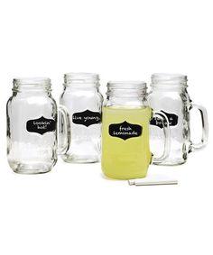 Loving this Yorkshire Chalkboard Mason Jar Glass & Chalk Set on #zulily! #zulilyfinds