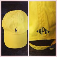 Monogrammed polo hat!