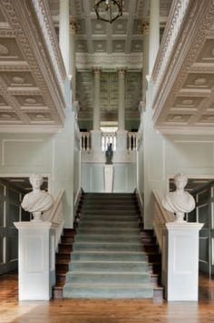 The Staircase Hall at The Vyne, Hampshire. The Staircase Hall was created between 1769 and 1771 by John Chute.