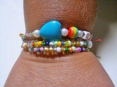 Σπηράλ βραχιόλι με διάφορες πολύχρωμες χαντρούλες και άλλα - otinanai !!! Beaded Bracelets, Jewelry, Fashion, Moda, Jewlery, Jewerly, Fashion Styles, Pearl Bracelets, Schmuck