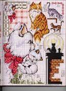 Schema punto croce Gatti Vari7