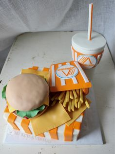 A Whataburger smash cake for someone's 1st birthday! How ...