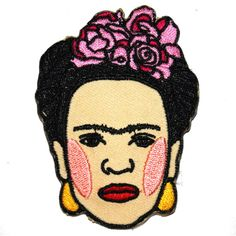 Frida Kahlo Iron On Patch Embroidery Sewing DIY Customise Denim Cotton... ($4.00) ❤ liked on Polyvore featuring home and home improvement