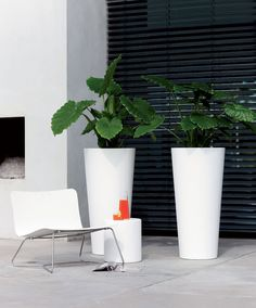 Elho® Pure Straight Round High weiß Produktbild