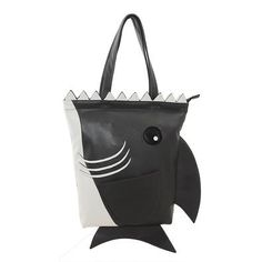 A fierce shark tote.
