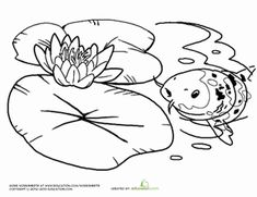 monet water lily pond coloring page - Bing Images