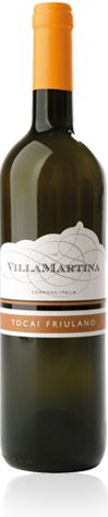 Fruliano Collio DOC  Country : Italy  Region : Friuli  Winery Name : Villa Martina  Tasting Notes  An exceptional wine: refined, delicate, with an intense aroma recalling wildflowers; dry, fresh, soft, with the distinct taste of almonds, very round.  Serving temperature  10/12° C
