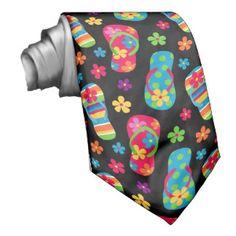Flip Flops Pattern Custom Tie