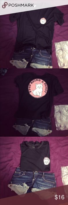 Cat t-shirts these things are the lowest prices. So do not ask any discounts. No free shippings. Tops Tees - Short Sleeve