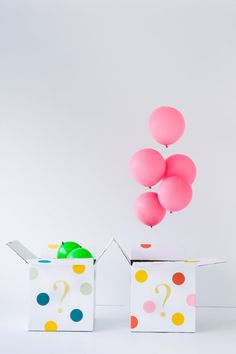 Great idea for a #gender reveal - only put helium in the balloons of the correct color!