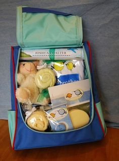 "big brother kit -- I love this idea for the new ""big siblings"" in a family when a new baby comes!  I'm going to need 2 big brother kits and a big sister kit."