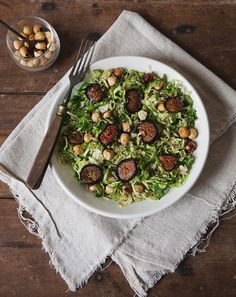 Roasted Fig, Hazelnut, & Brussels Sprout Salad | Free People Blog #freepeople