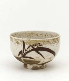 Porcelain Tea bowl 1630-1650. From 1630s -1720s, the Japanese trading enclave near Pusan, in Korea and made tea-ceremony wares for the Japanese market. made in Japan or Korea.