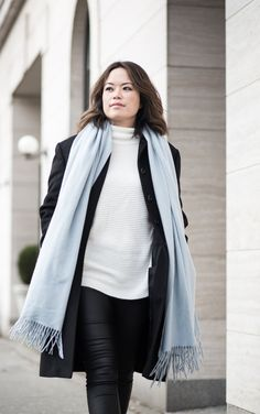 The Basics - nothing like a pale blue cashmere scarf to warm you up in the winter!