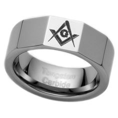 8MM Men's Tungsten Carbide Ring Mason Freemason Masonic (Available in Sizes 8 to 15) Cavalier Jewelers. $29.95. Comes in an elegant ring box. Genuine Tungsten Carbide (Cobalt Free). 60-day money back guarantee. Comfort Fit Design. 1 year warranty