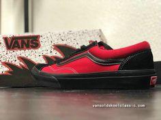 f580498250 Wholesale BILLYS x Vans Old Skool Style 36 Black Red Skate Shoe Vans For  Sale-www.vansoldskoolclassic.com