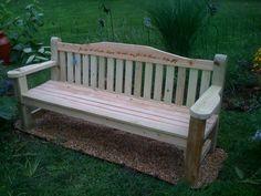 Garden bench in memorial garden.