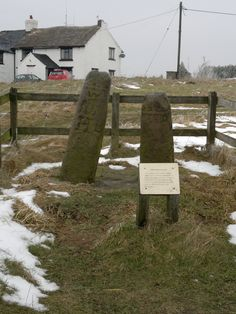 Bow Stones, Lyme Park.  Old bits of Saxon crosses found in the grounds of Lyme Park, Disley