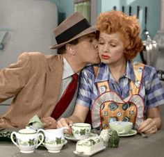 Franciscan Ivy dinnerware on I Love Lucy