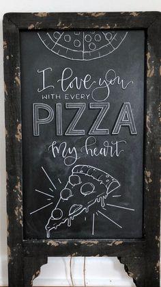 Late Night Pizza sign to soak up the wedding booze. Late Night Pizza sign to soak up the wedding boo Chalkboard Restaurant, Blackboard Art, Restaurant Signs, Chalkboard Walls, Pizza Menu Design, Pizzeria Design, Chalkboard Doodles, Chalkboard Designs, Chalkboard Ideas