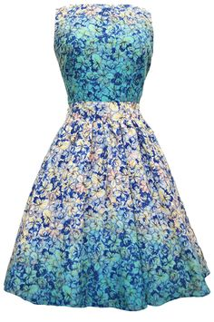 Floral Cascade Tea Dress : Lady Vintage