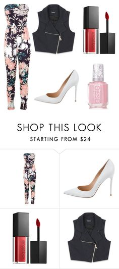"""Spring dinner"" by millie-simpson on Polyvore featuring Miss Selfridge, Gianvito Rossi, Smashbox, Bebe and Essie"
