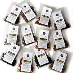 12 Tea Sampler Set Organic Loose Leaf Tea by Finch Fern * Read more at the image link. Organic Loose Leaf Tea, Types Of Tea, Tea Gifts, Ferns, Gourmet Recipes, Tea Time, Herbalism, Cooking, Classic