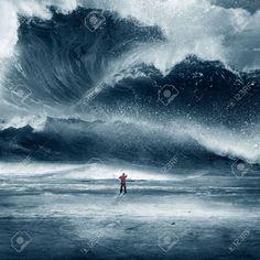 large crashing wave - Google Search