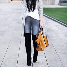 Blogger Kate of The Fancy Pants Report instagrammed how she styled her grey Lucky Brand skinny jeans in March 2015.