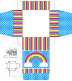 rainbow printable gift box