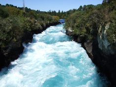 Huka Falls near Taupo, NZ Amazingly powerful and darn pretty too!