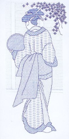 A lovely design of an Oriental lady in traditional dress.